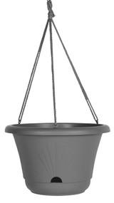 Bloem Lucca Hanging Basket Charcoal Plastic - 13 inch