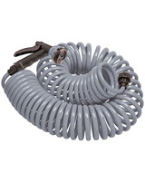 Orbit Coil Hose Gray With Nozzle - 50 Ft
