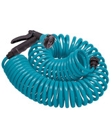 Orbit Coil Hose Teal With Nozzle - 50 Ft