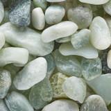 Polished Jade Pebbles Jar - 5 lb