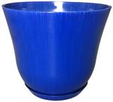 Glazed Ceramic Lily Planter Royal Blue - 12 inch
