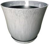 Glazed Ceramic Lily Planter Quarry - 22 inch