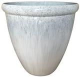 Glazed Ceramic Egg Planter Gulfstream - 18 inch