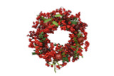 Berry, Pomegranate & Leaf Faux Wreath - 18 Inches