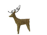 Standing Resin Carved Deer with Wire Antlers