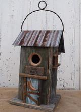 Birdhouse Tin Roof Bird Bath