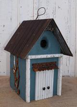 Birdhouse with Vine & Tin Roof