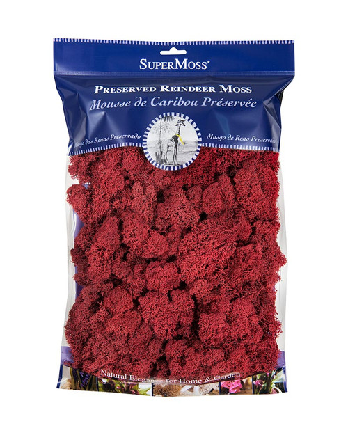 SuperMoss Reindeer Moss Preserved Red - 4oz