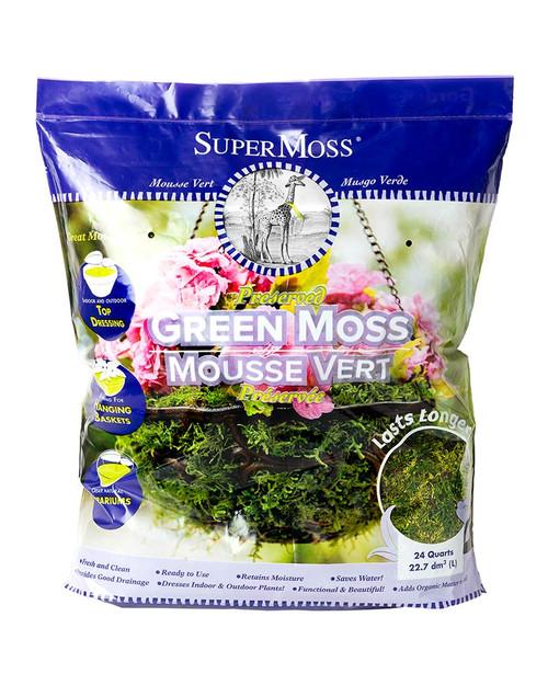 SuperMoss Forest Moss Preserved Fresh Green - 24qt