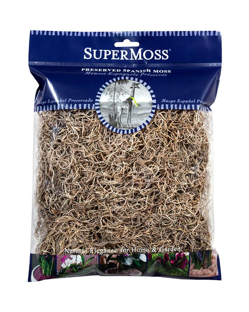 SuperMoss Spanish Moss Preserved Natural - 4oz