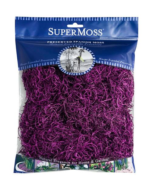 SuperMoss Spanish Moss Preserved Violet - 4oz