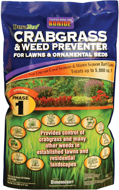 DuraTurf Crabgrass & Weed Preventer for Lawns and Ornamental beds - 9.5 lb