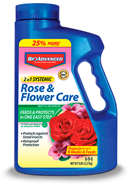 Bayer 2-In-1 Systemic Rose & Flower Care Granules - 5 lb