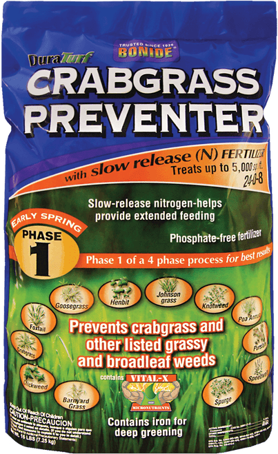 DuraTurf Crabgrass & Weed Preventer for Lawns and Ornamental beds - 16 lb