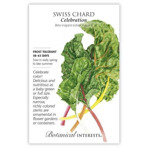 Celebration Swiss Chard Seeds