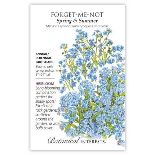 Spring and Summer Forget-Me-Not Seeds Heirloom