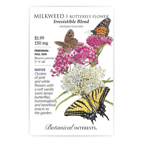 Irresistible Blend Milkweed/Butterfly Flower Seeds Native