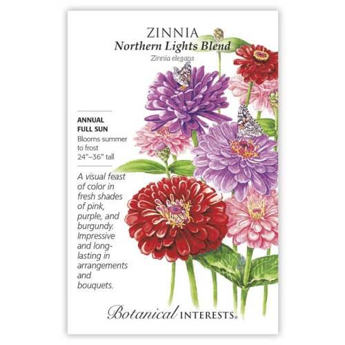 Northern Lights Blend Zinnia Seeds