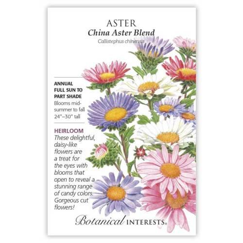 China Aster Blend Aster Seeds Heirloom