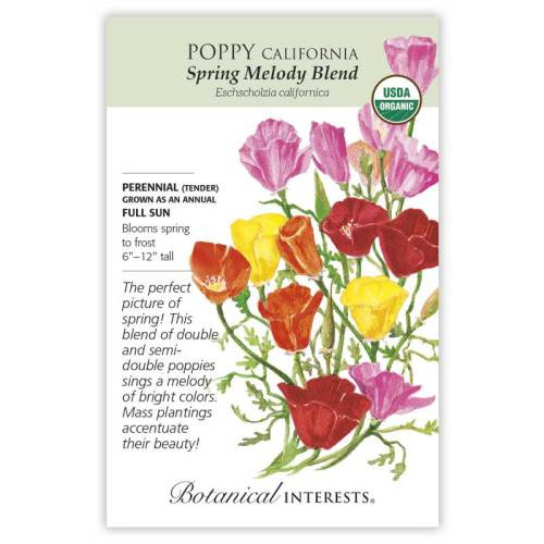 Spring Melody Blend California Poppy Seeds Organic