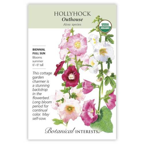 Outhouse Hollyhock Seeds Organic