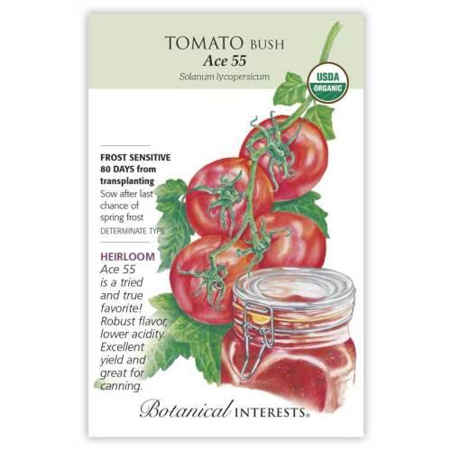 Ace 55 Bush Tomato Organic Heirloom