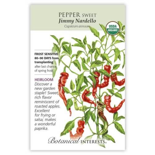 Jimmy Nardello Sweet Pepper Seeds Organic Heirloom