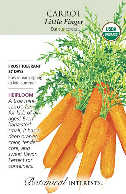 Carrot Little Finger Organic Organic Heirloom