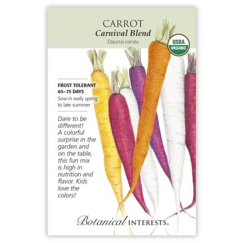 Carnival Blend Carrot Seeds Organic
