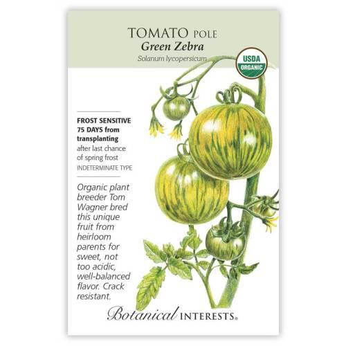 Green Zebra Pole Tomato Seeds Organic