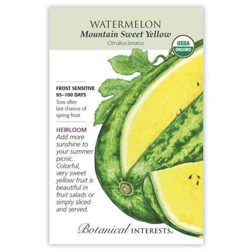 Mountain Sweet Yellow Watermelon Seeds Organic Heirloom