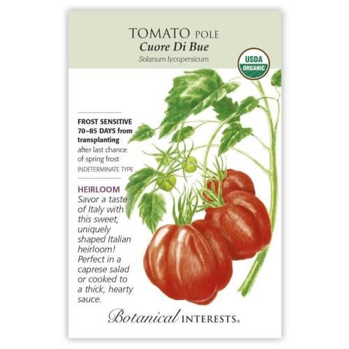 Cuore Di Bue Pole Tomato Seeds Organic Heirloom