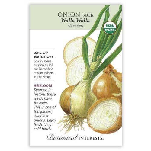 Walla Walla Bulb Onion Seeds Organic Heirloom