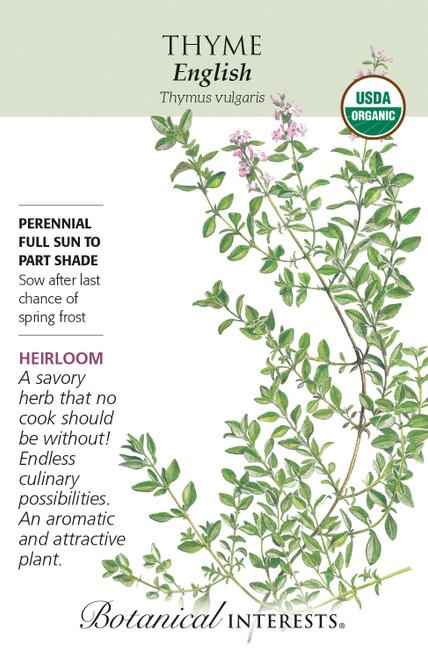 Thyme English Organic Organic Heirloom