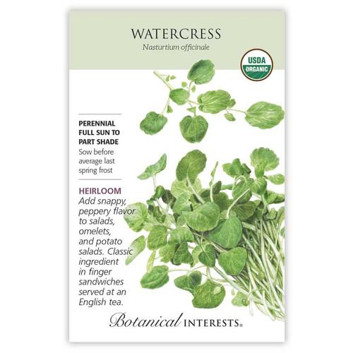 Watercress Seeds Organic Heirloom