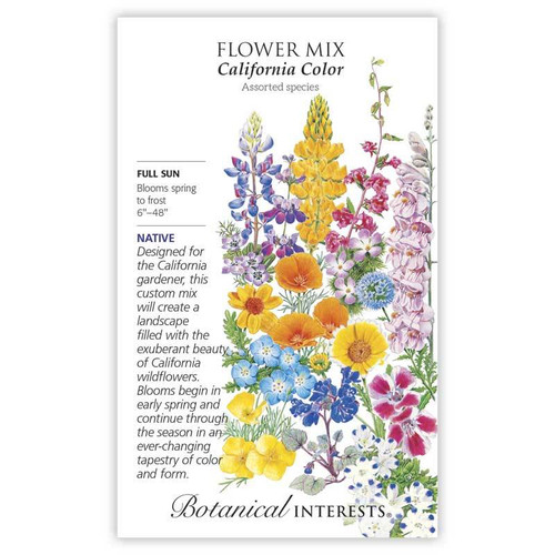 California Color Flower Mix Seeds Native