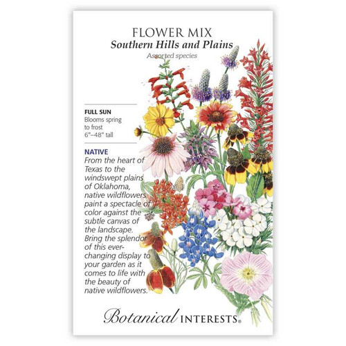 Southern Hills and Plains Flower Mix Seeds Native