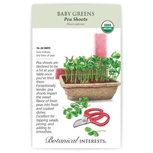 Pea Shoots Baby Greens Seeds Organic
