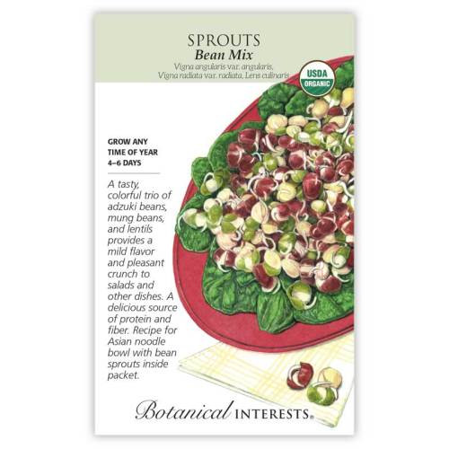 Bean Mix Sprouts Seeds Organic