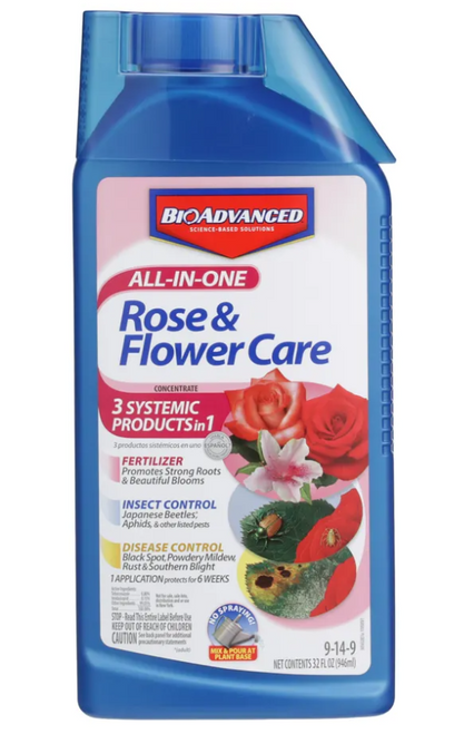 Bayer All-In-One Rose & Flower Care Concentrate - 32 Oz