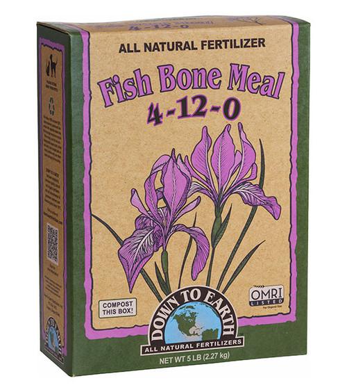 Down To Earth Fish Bone Meal Fertilizer - 5 lb