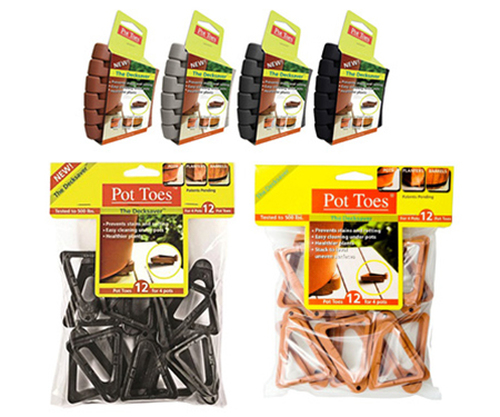 Pot Toes Terra Cotta Clip Strip - 6 pack