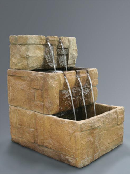 Stone Courtyard Cascade Wall Fountain