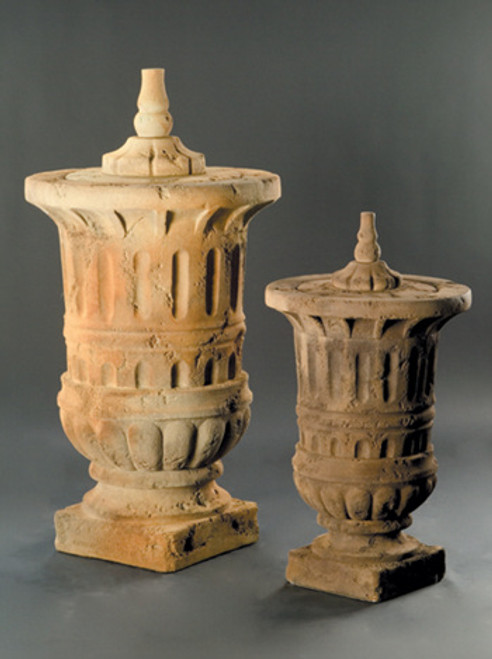 Bloomer Urn with Cap, Large