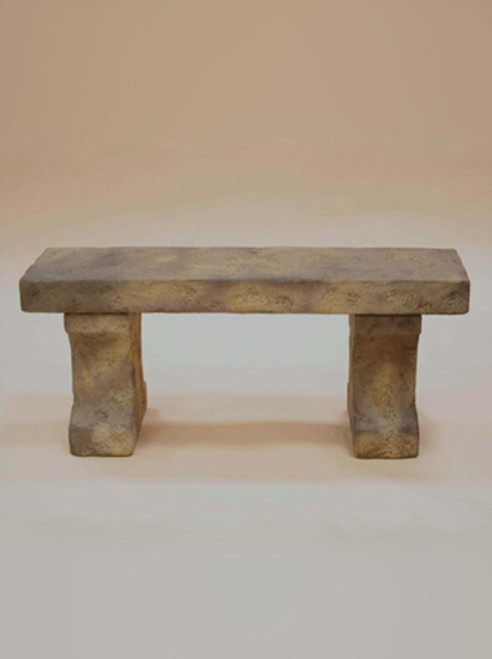 Weathered Stone Bench, Long