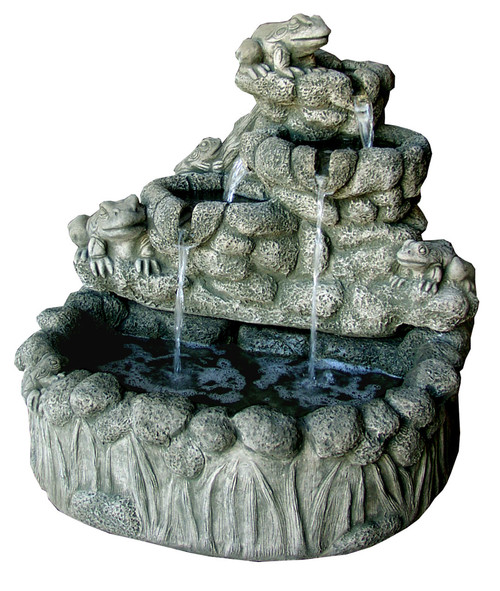 Frog Falls Fountain with Pump