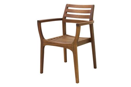 Eucalyptus Danish Stacking Arm Chair