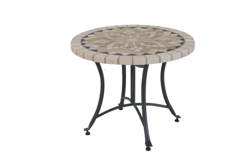 """Spanish Marble 24"""" Accent Table"""