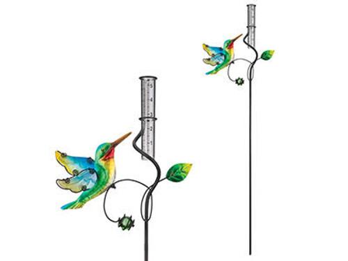 Rain Gauge Stake Hummingbird