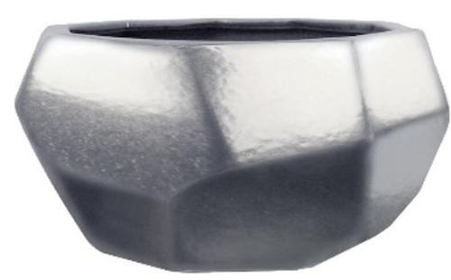 Glazed Ceramic Gem Bowl Gunmetal - 10 inch